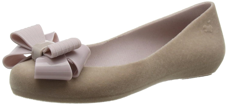 Zaxy Damen Pop Flock Geschlossene Bow Luxe Geschlossene Flock Ballerinas 1b82d7