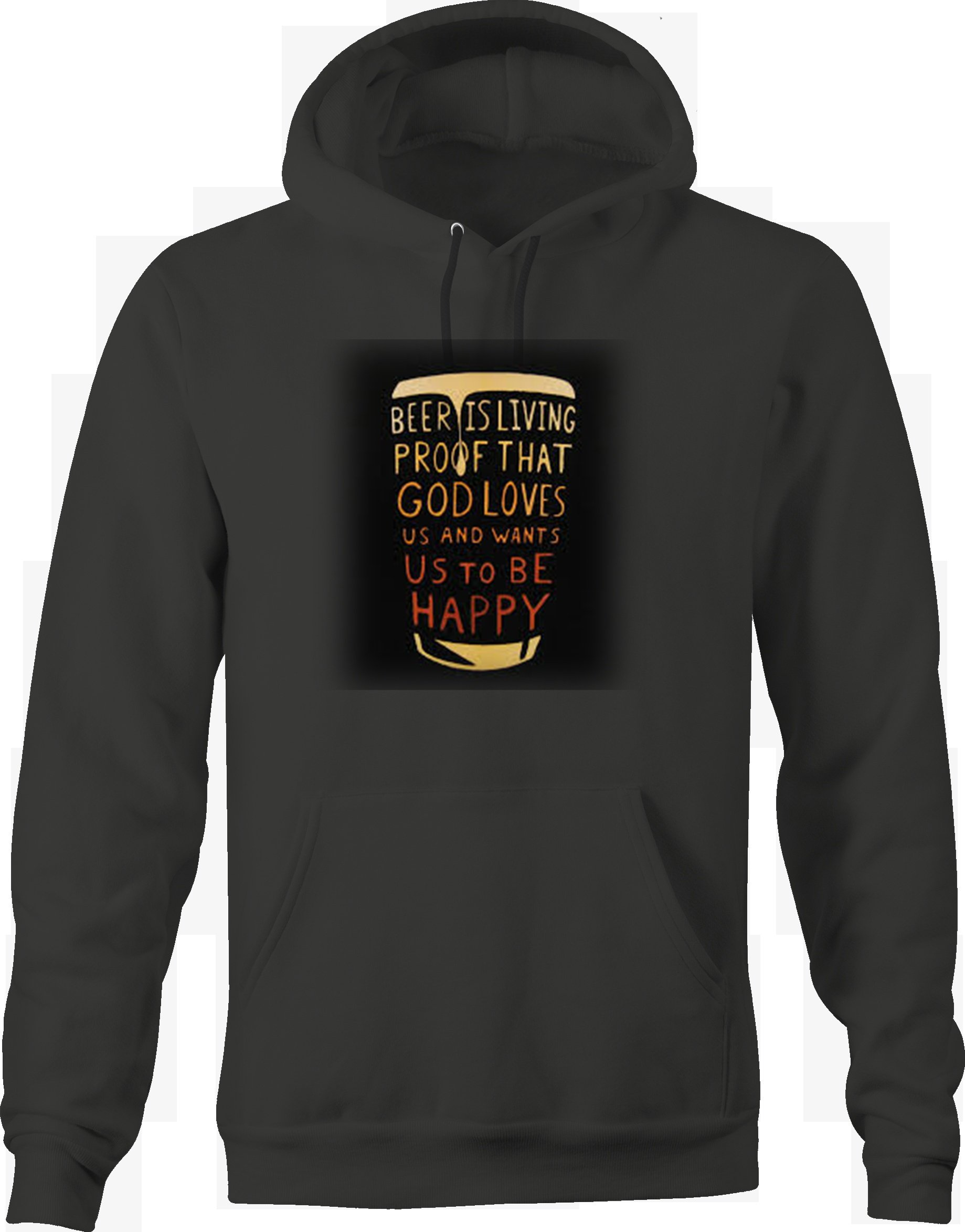 Beer Living Proof God Loves Happy Funny Drinking Quote Pint Glass Sweatshirt - Large