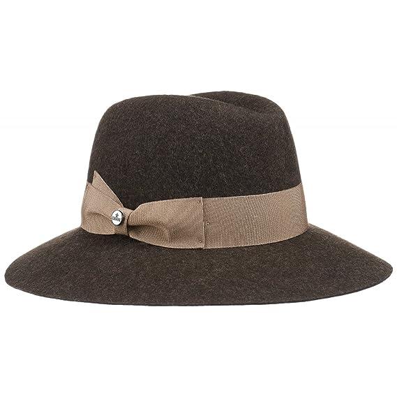 Lierys Women´s Floppy Hat Melange (One Size - Dark Brown)  Amazon.co ... ce19709c47d