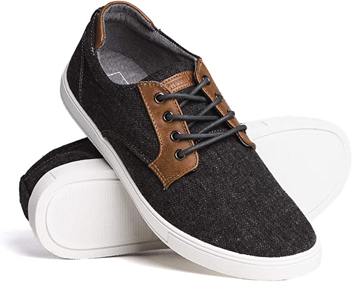Blackwell Mens Lazlo Canvas Casual Lace-Up Shoes with Memory Foam Insoles