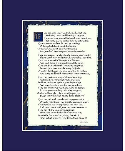 picture about If by Rudyard Kipling Printable identified as If Through Rudyard Kipling - If Poem Print 8x10\