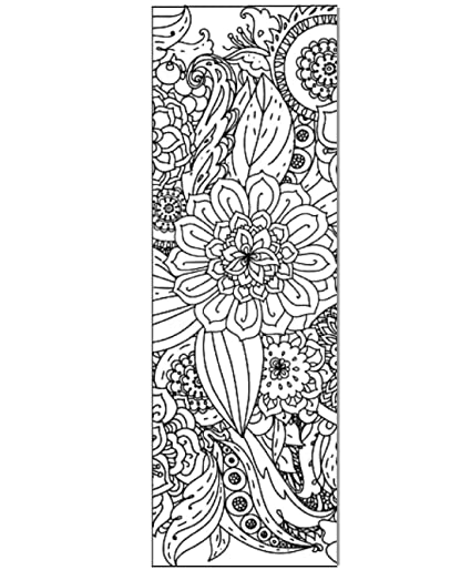 Floral Color Your Own, Bookmarks to Color, Anti Stress, Art Therapy, Adult  Coloring - 50 Pack