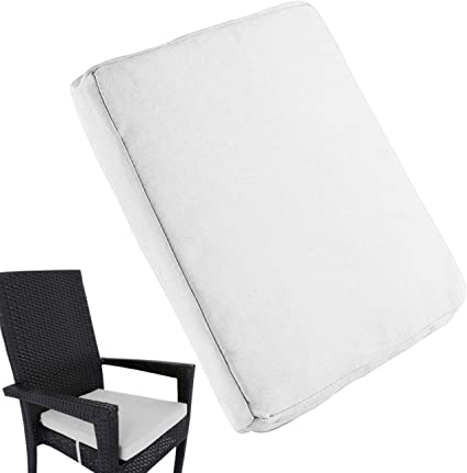 """Amazon.com : Uheng 6 Pack Patio Outdoor Chair Cushions With Ties, Seat Pads Mat, Waterproof Removable Cover, Comfort Memory Foam Nonslip For Garden Deck Picnic Beach Pool -18"""" X 18""""(White) : Garden"""