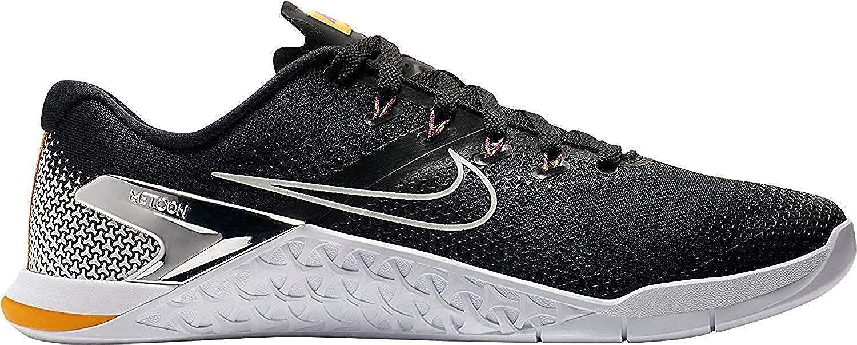 Nike Metcon 4, Hausschuhe de Cross para Hombre schwarz Weiß Gelb-m