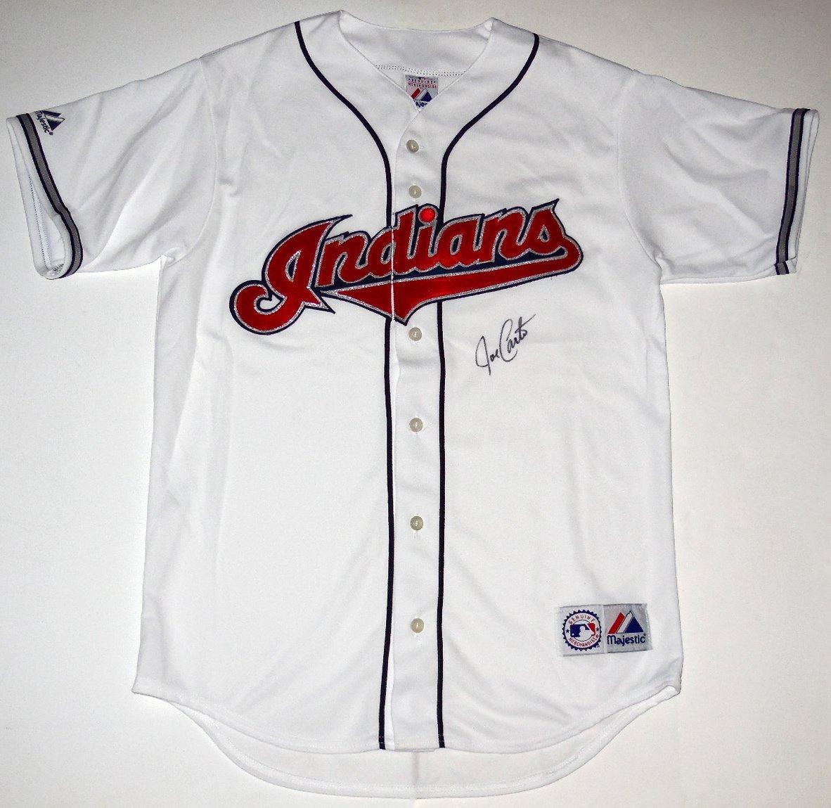 more photos 06872 1b0bc Joe Carter Autographed Jersey (Indians) at Amazon's Sports ...