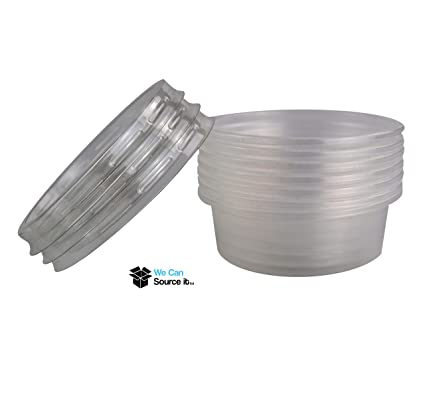 Food Storage Containers Plastic Round Containers Tubs Pots With Lids Clear Microwave Food Safe Takeaway Home & Garden