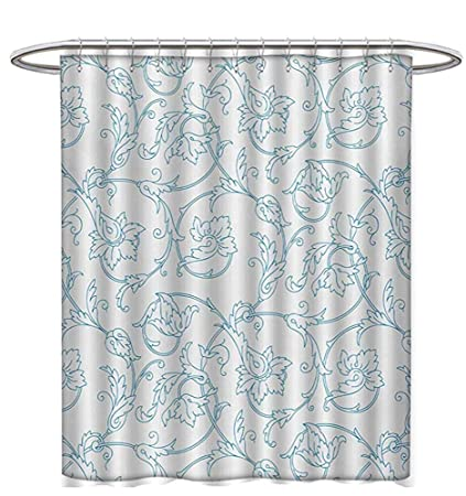 Floral Shower Curtains Waterproof Flower Orchids Bohemian Style Vintage Petals Vines Pattern French Country Bathroom