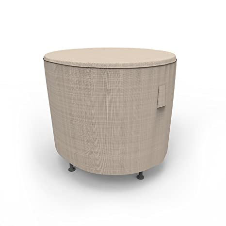 Budge English Garden Round Patio Table Cover, Extra Small (Tan Tweed)