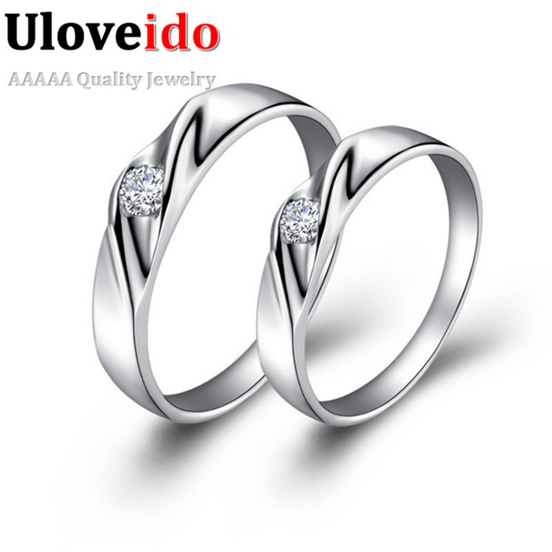 GemMart Jewelry New Fashion Ring European and Style Women Silver Plated Ring de Boda Wedding Anniversary J018