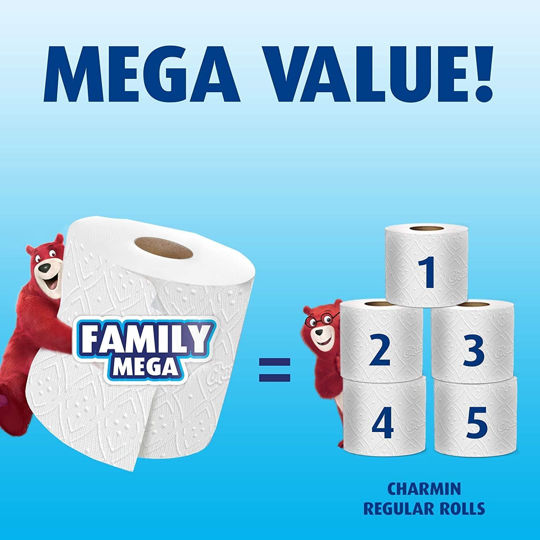 Papel Higiénico Ultra Fuerte 18 Mega Rollos Familiares 90 Rollos Regulares El Embalaje Puede Variar Health Personal Care