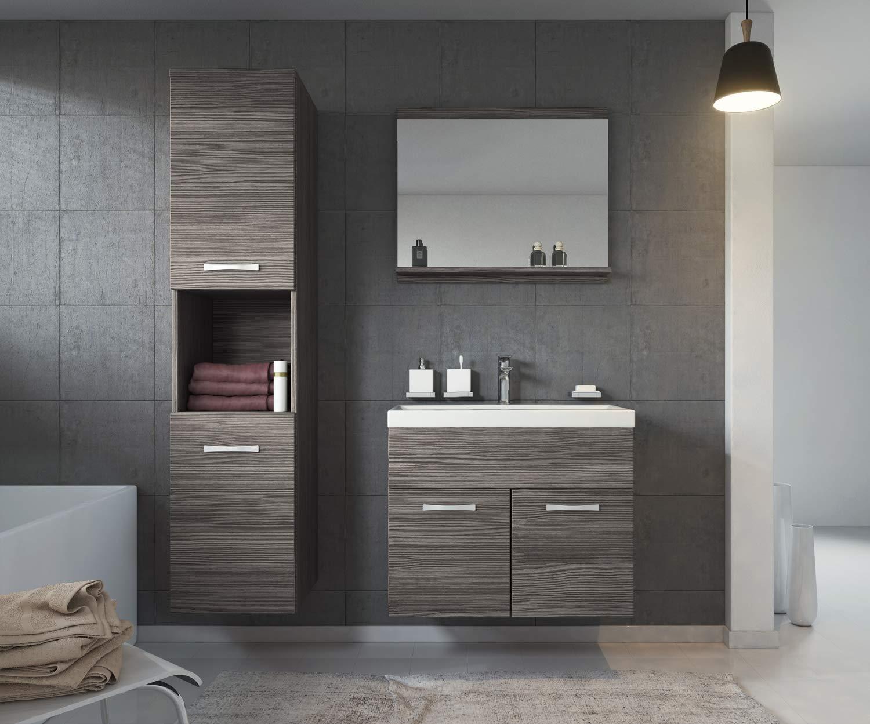 Unterschrank Schrank Badezimmer Badmöbel Set Montreal 60 cm Waschbecken Bodega