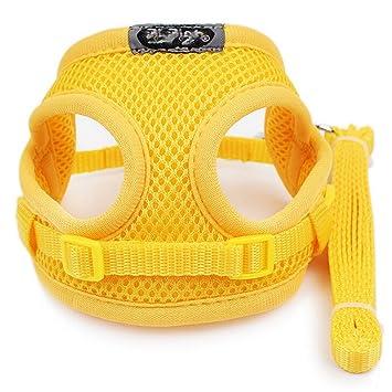 Kuntrona Soft Breathable Mesh Small Dog Harness Vest Pet Supplies Chihuahua Yorkshire Nylon Leash Lead Collar