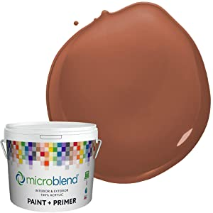 Microblend Exterior Paint and Primer - Brown/Moroccan Clay, Sample, Custom Made, Premium Quality, One Coat Hide, Low VOC, Washable, Microblend Oranges Family