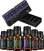 VicTsing Essential Oils Set, 6 Packs 10ml Aromatherapy Secented Oil Kit Top 6 Pure of the Oils Peppermint, Tea Tree, Sweet Orange, Lemongrass, Lavender, Eucalyptus