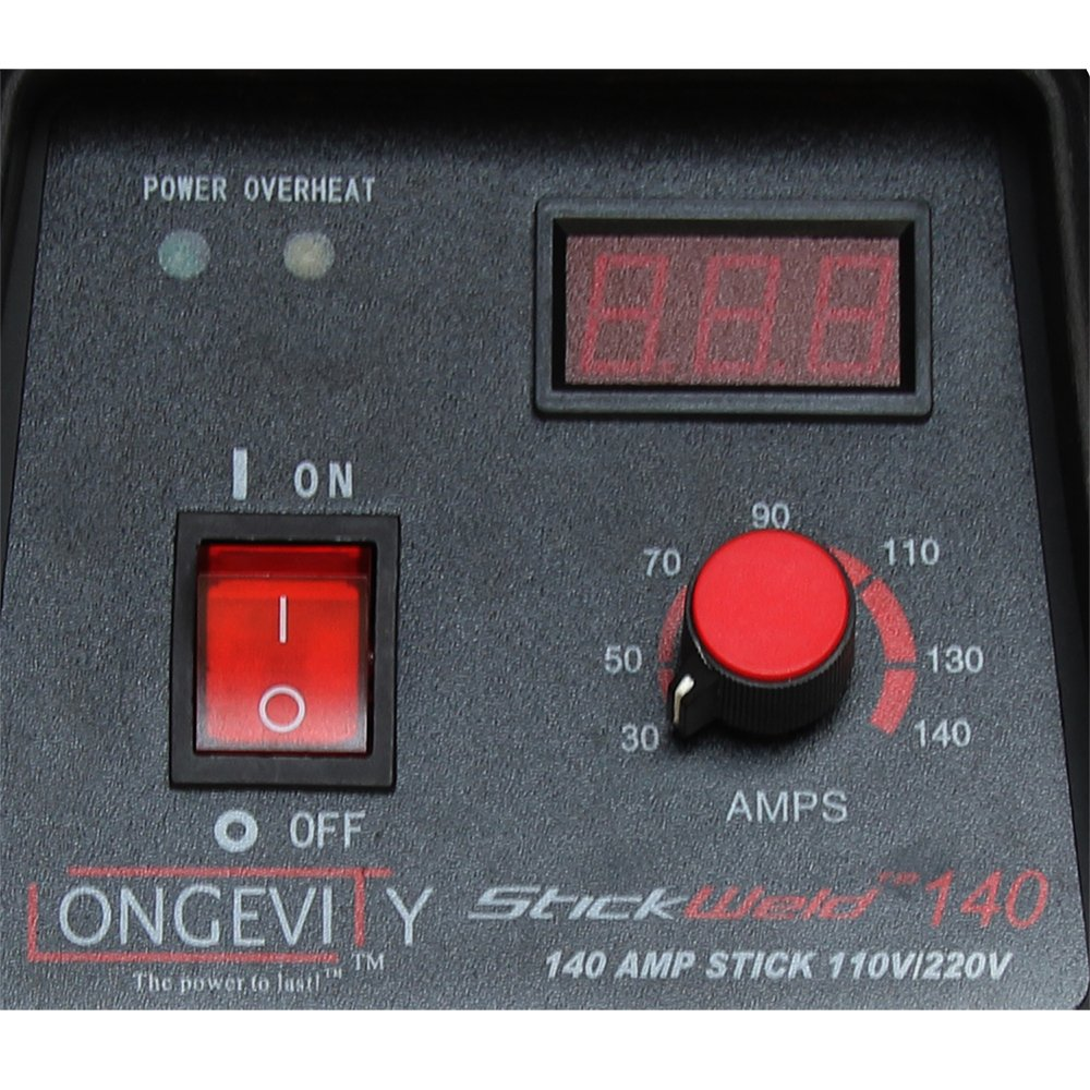 LONGEVITY 721405557523 Stickweld 140 140-AMP Dual Voltage Protable Stick Welder by Longevity (Image #4)