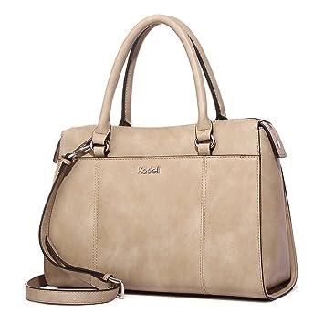 f925cb8db3b30 Kadell PU Leder Frauen Handtaschen für Damen Luxus Top Griff Schulter  Geldbörse Hellbraun