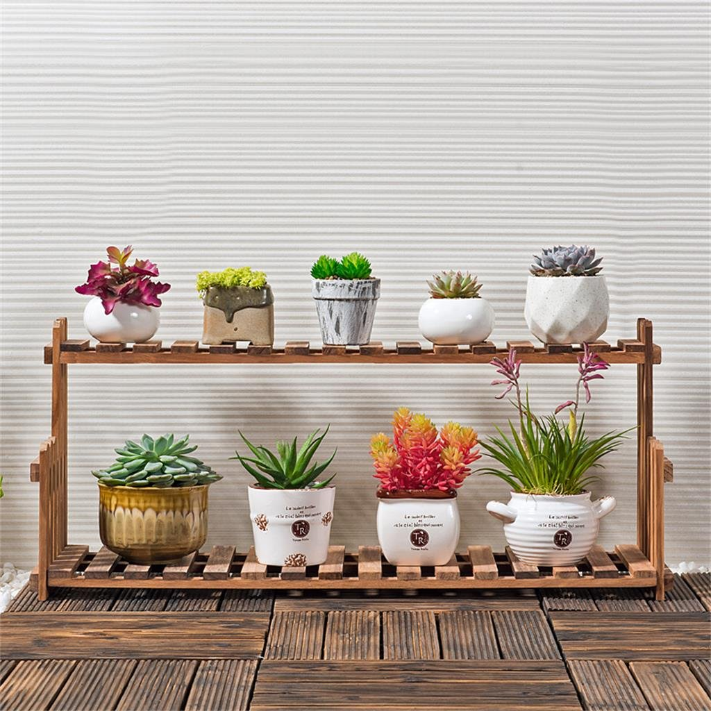 Massivholz Blumen Rack Wohnzimmer Balkon Fussboden Mehrgeschossige Becken Indoor Einfache Betriebsregale Grsse 702122cm Jetzt Bestellen