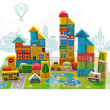 Bloques Urbano Niños Juegos Educativos Coloreados Puzzle Piezas Para 3 Transporte Madera 62 Tráfico Más Juguetes De Onshine Construcción pGqUMLSzV
