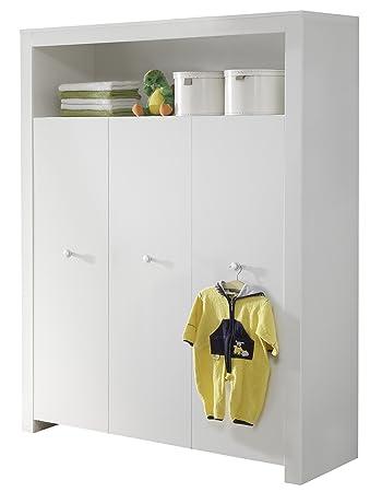 Trendteam 1553-613-01 Babyzimmer Kleiderschrank, Schrank Olivia, 130 ...