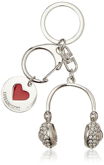 Portachiavi Metallo Nikel, Womens Keyring, Silver (Nickel), 1x1x1 cm (B x H T) Love Moschino