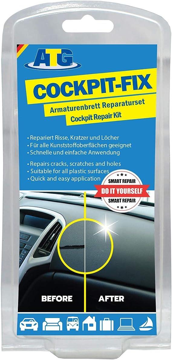 Atg Armaturenbrett Reparaturset Cockpit Kratzer Entfernen Leicht Gemacht 16 Teiliges Set Für Jedes Kfz Und Alle Farben Auto