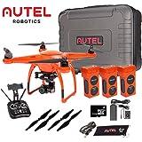 Autel Robotics X-Star Premium Drone with 4K Camera, 1.2-Mile HD Live View &Manufacturer Accessories (Orange) +extra 2x Autel Robotics Battery (Li-Po with 4900mAh, 14.8V)