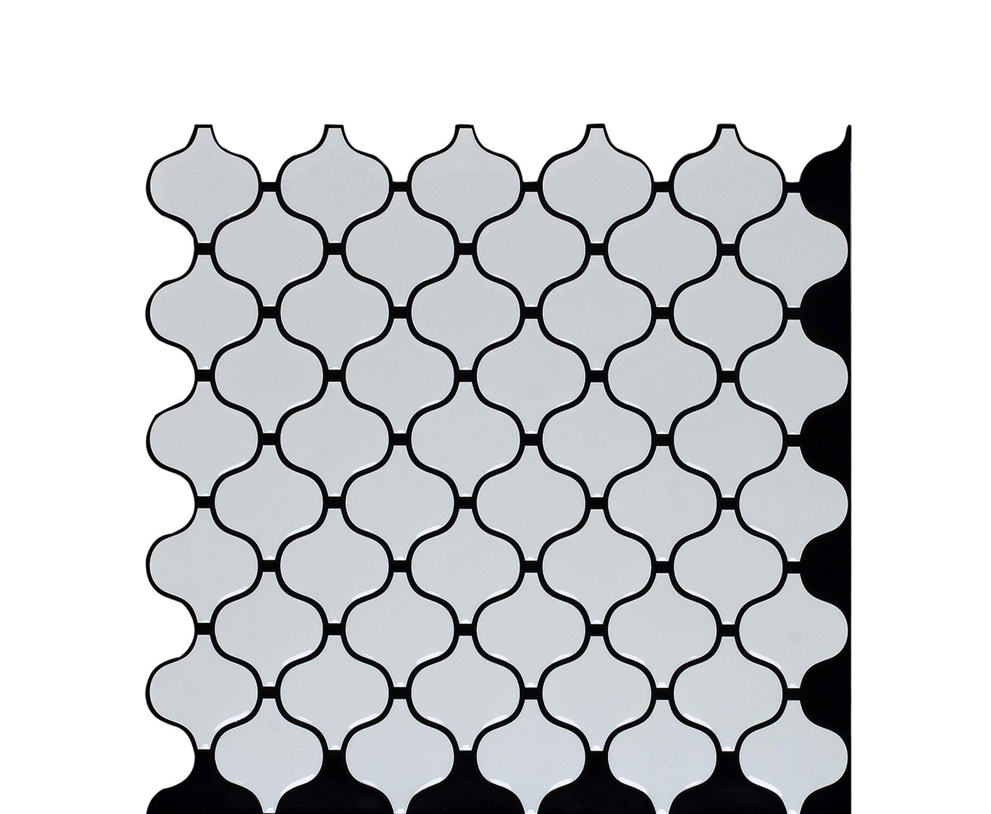 Backsplash Peel and Stick, Peel and Stick Wall Tile, Peel and Stick Tile for Kitchen Backsplash, Self-Adhesive and Decorative Backsplash Peel and Stick Tile, 3D EFFECT, 4 OF 10\'\' x 10\'\' IN PACKAGE