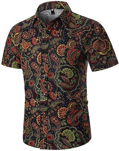 POLP Polos Manga Corta Hombre Camisa Manga Corta Hombre Camisa Estampada Verano Hombre Camisetas Casuales 3XL Tops M-3XL: Amazon.es: Ropa y accesorios