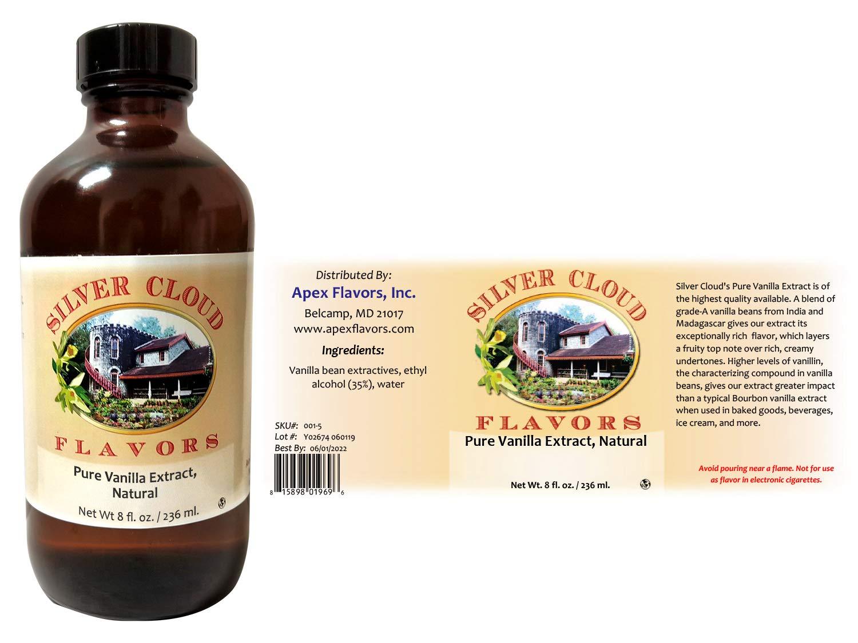 Pure Vanilla Extract - 8 Ounce Bottle