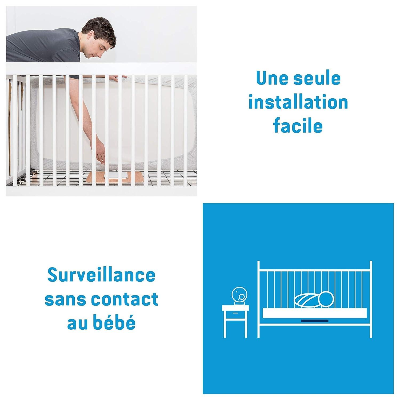 Empfindlichkeit verstellbar Angelcare AC027 Babyphone mit Bewegungsmelder Bluetooth-/Übertragung Wei/ß