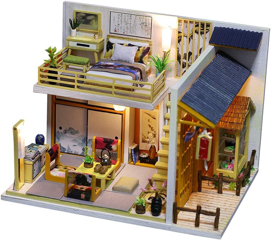 Amazon.es: Dollhouse DIY Miniature Room Set con Tapa - Juego De ...