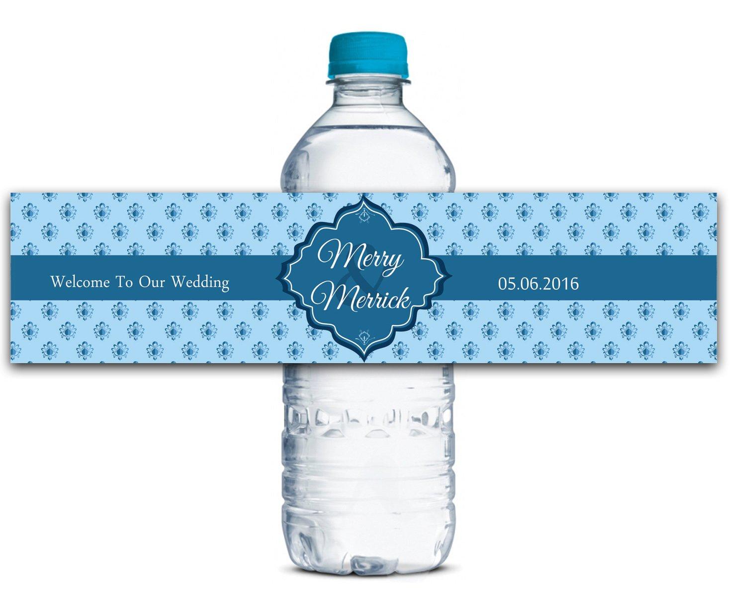 Personalisierte Wasserflasche Etiketten Selbstklebende wasserdichte Kundenspezifische Hochzeits-Aufkleber 8 8 8  x 2  Zoll - 70 Etiketten B01A0W229Y | Qualität zuerst  621abd