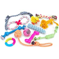 Mumoo Bear 12 Pack Dog Toys Gift Set, Ball Rope and Chew Squeaky Toys for Medium to Small Dog