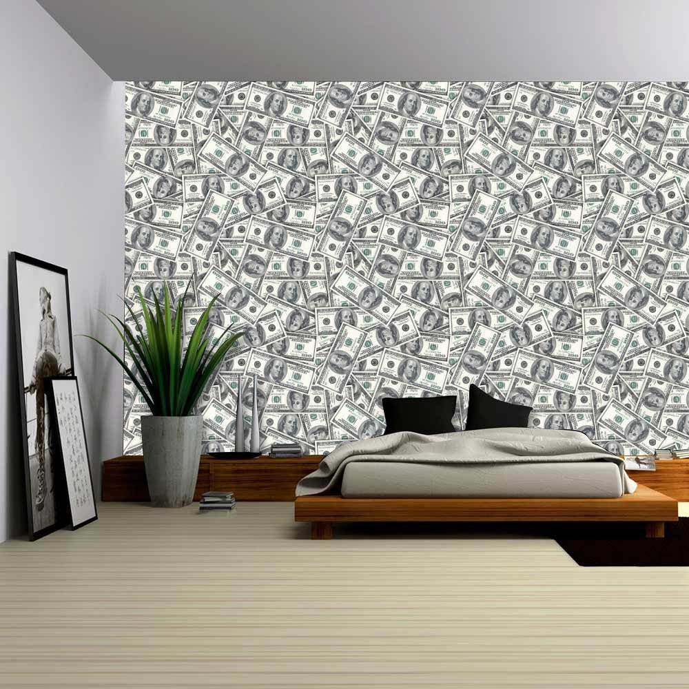 wall26 - 100 Dollar Bills Collage Background - Large Money Wall Mural, Removable Peel and Stick Wallpaper, Home Decor - 100x144 inches by wall26 (Image #2)