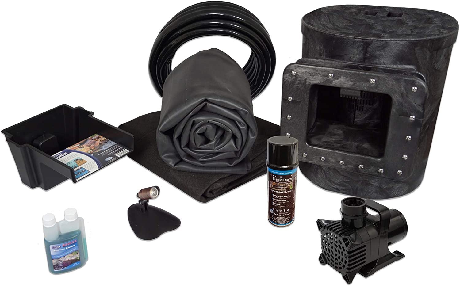 HALF OFF PONDS - Simply Ponds 1200 Water Garden and Pond Kit with 10 Foot x 10 Foot EPDM Liner - X8-2