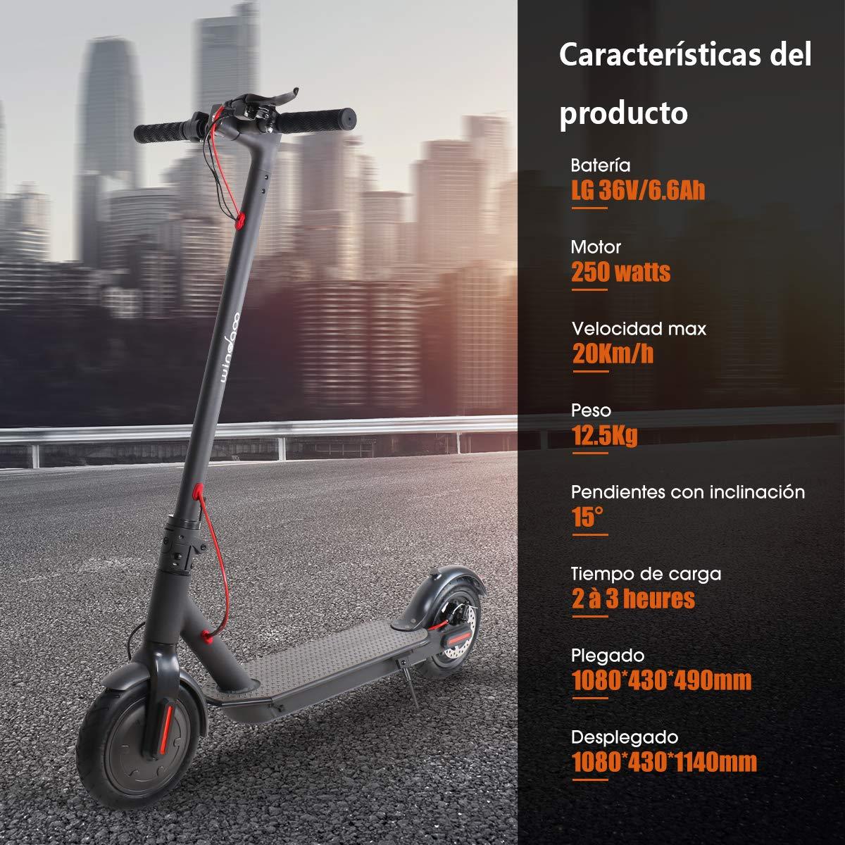 Windgoo Patinete Eléctrico Plegable Scooter Eléctrico Ruedas 8.5