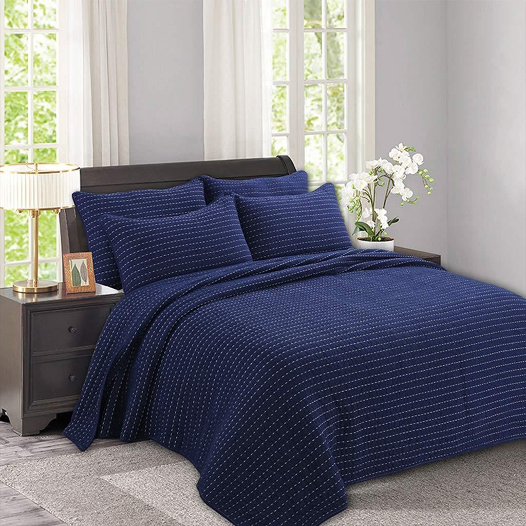 ヨーロピアンスタイルの寝具手キルトの厚い綿3個セット印刷洗浄エアコンキルトセット (230 * 250CM) B07LF9XVN7