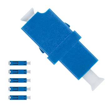44ea3dd1ed4af Fiber Optic LC to LC Adapter Single Mode UPC Simplex - 5 Pack - Beyondtech  Fiber