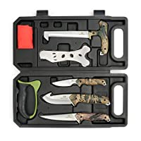 MOSSY OAK Hunting Field Dressing Kit - Portable Butcher Game Processor Set (8-piece)