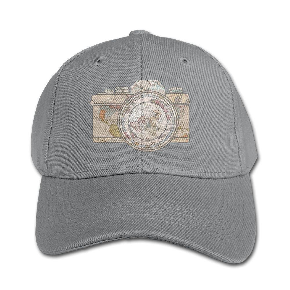 Elephant AN Travel Pure Color Baseball Cap Cotton Adjustable Kid Boys Girls Hat