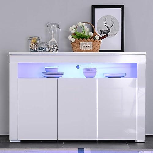 White Gloss Led Furniture: White Gloss Sideboards: Amazon.co.uk