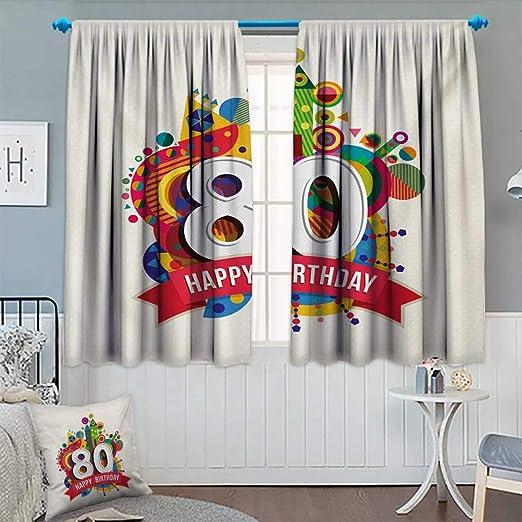 Anhounine Cortina Opaca de 80 cumpleaños, Estilo Abstracto ...