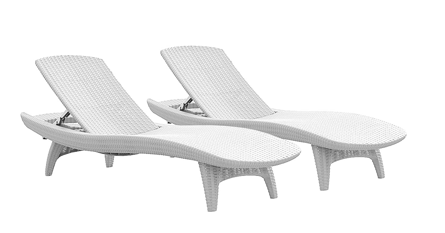 2-Pack All-weather Adjustable Outdoor Patio Chaise Lounge ... on Dollar General Chaise Lounge id=56998