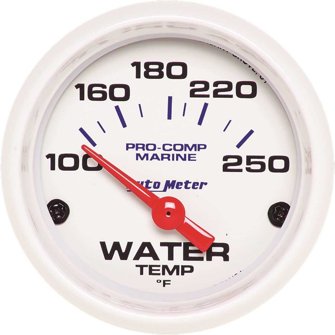 100-250/ºf Water Temp Electric Marine White AutoMeter 200762 Gauge 2 1//16