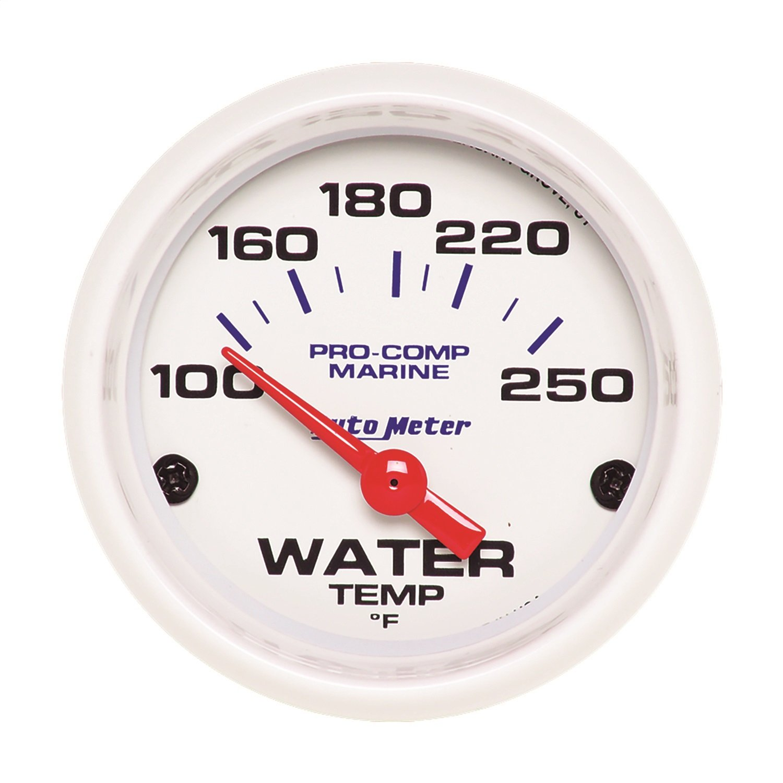 2 1//16 Auto Meter AutoMeter 200762 Gauge Marine White Electric Water Temp 100-250/ºf