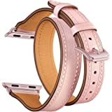 EloBeth Watch Band Compatible with Apple Watch Series 7 41mm Watch 40mm Series 6/SE/5/4 Watch 38mm Series 3/2/1 Double Wrap L