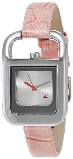 Fastrack Fits & formas analógico Dial de plata reloj de pulsera de mujer