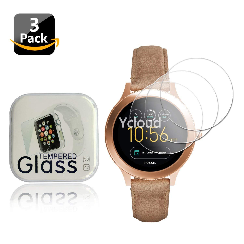 Ycloud [4-Unidades Protector de Pantalla de Vidrio Templado para Samsung Gear S2 Sport Smartwatch Alta Definicion 9H Dureza Anti-Explosion