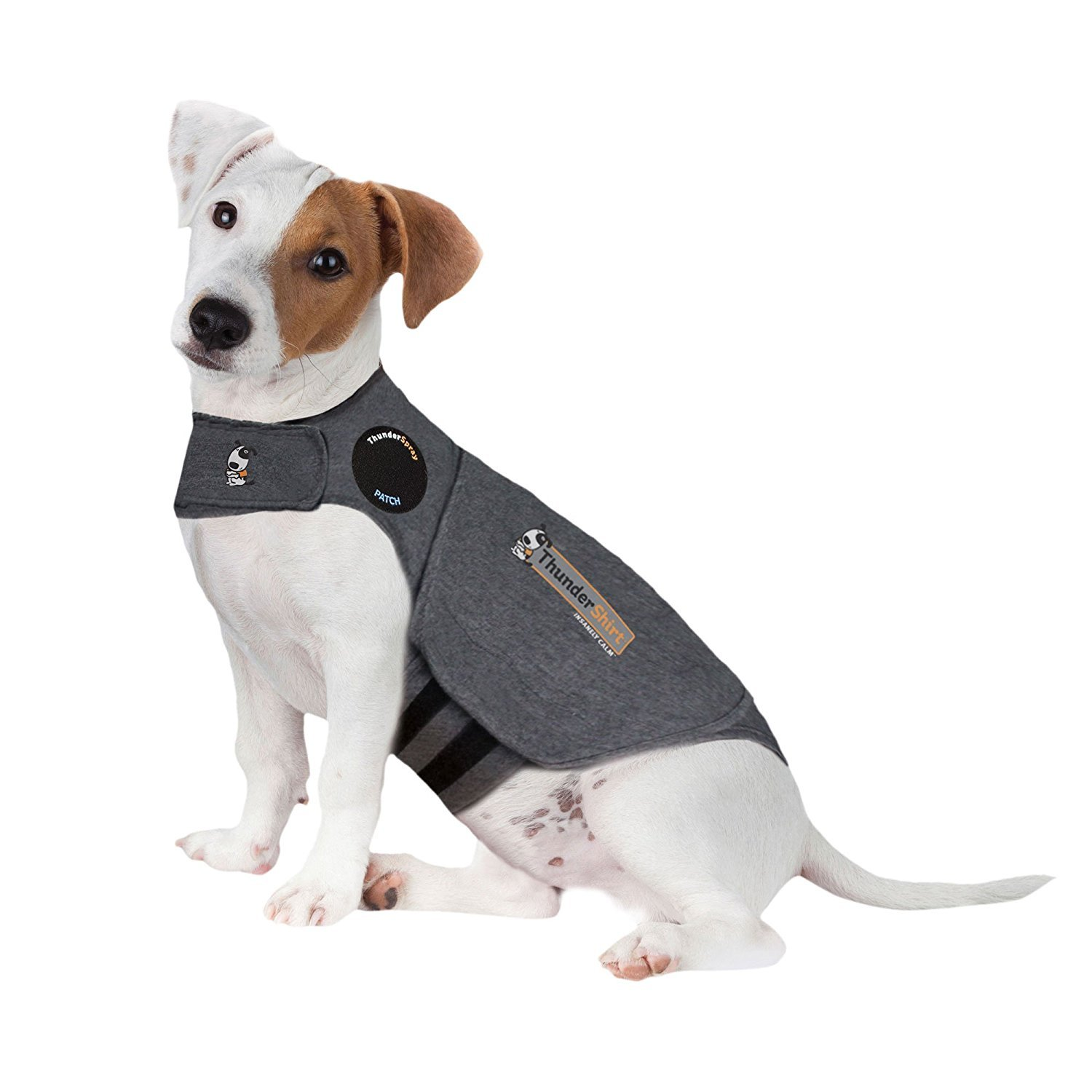 Thunder Design Classic Anti-Anxiety Dog Jacket Over Excitement Shirt Keep Calm Clothes Warm Coat (Medium26-40 lbs)