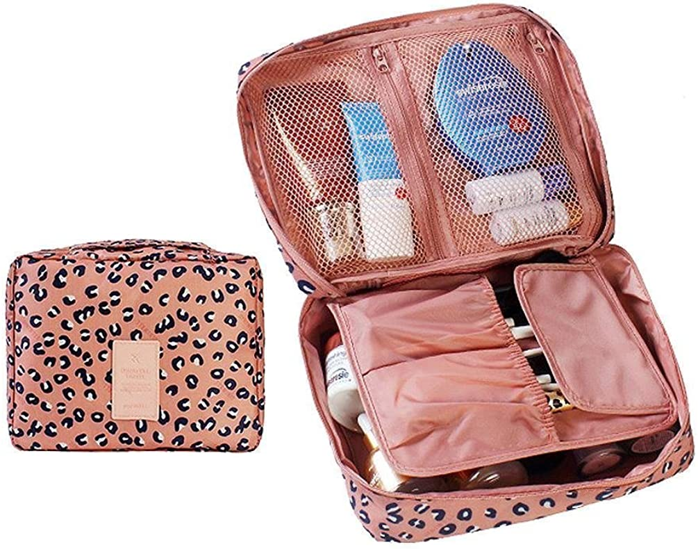 Passionate Adventure Travel Portable Waterproof Makeup Storage Pouch Handbag Insert Organizer Purse